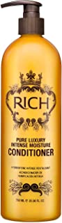 RICH Pure Luxury Intense Moisture Conditioner with Hydrolyzed Keratin for All Hair Types - Moisturizing & Smoothing, Anti-...