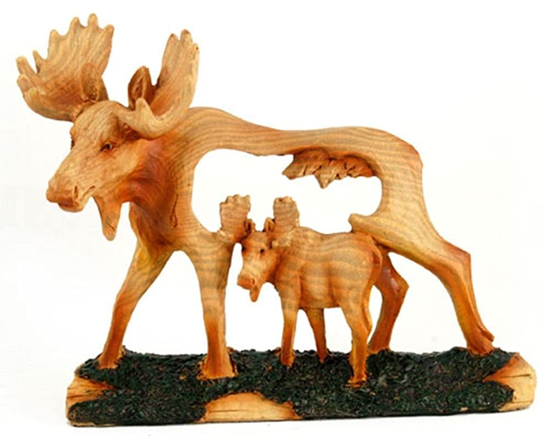 Unison Gifts MME-310 Small Animal Woodlike Carving - Moose
