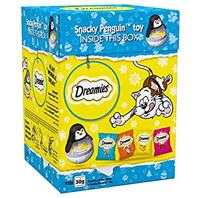 Dreamies Christmas Gift Cat Treats, Xmas Variety Gift Boxes with tasty snacks, 300 g