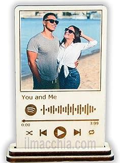 Targa spotify personalizzata con foto e musica che preferisci su legno