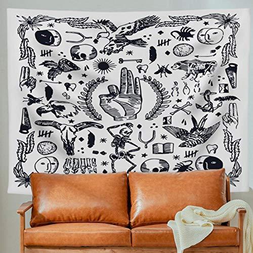 KBIASD Tapiz Colgante de Pared Mandala Tela de Fondo Tapiz Bohemio 150x130 cm