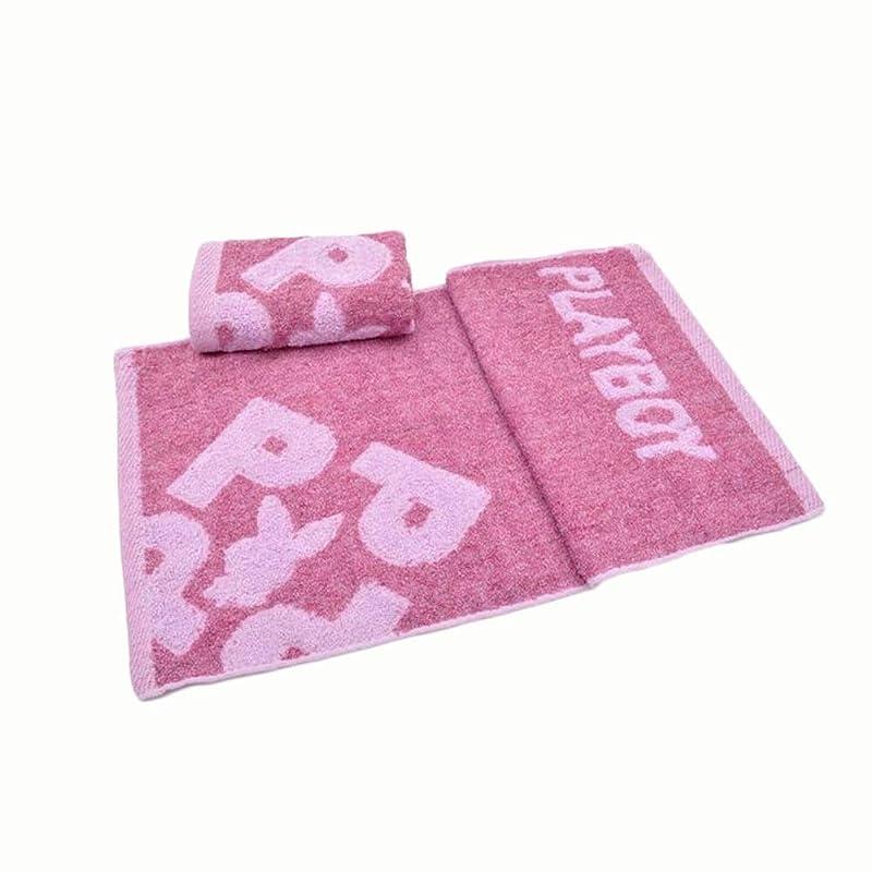 衝突フレッシュ抽出CXUNKK 2PCS / LOT家庭用綿ジャガード吸収性ソフトフェイスタオルウォッシュタオル (Color : Pink)