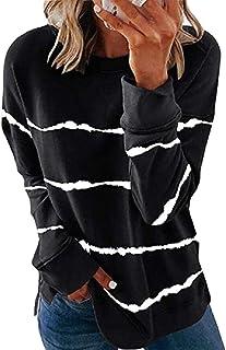 GAGA Women Lightweight Color Block Long Sleeve Loose Fit Tunics Shirts Top