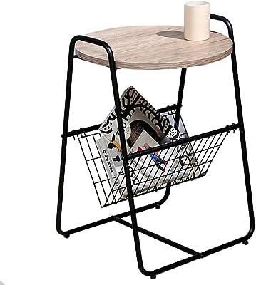 Table HUO d'appoint Basse Café/thé/Snack avec étagère Côté Chambre Salon Bureau Petite 46 * 40.5 * 65.5cm
