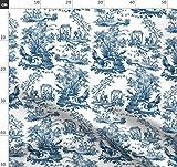 Altmodisch, Toile De Jouy, Blau Und Weiß, Chinoiserie,