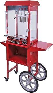 KUKOO - Máquina para Hacer Palomitas de Maíz 230g con Carrito