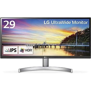LG モニター ディスプレイ 29WK600-W 29インチ/21:9 ウルトラワイド/HDR対応/IPS 非光沢/HDMI×2、DisplayPort/スピーカー搭載