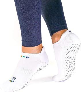 HSP Non Slip Yoga Energy Socks for Men and Women Far Infrared Rays Non Slip Grip Socks for Dance, Workout, Barre, Ballet, ...