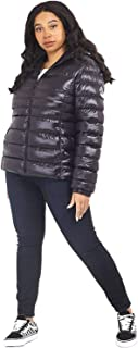 CHOCOLATE PICKLE New Womens Brave Soul Faux Down Everett Cire Quilted Hooded Padded Puffer Jackets 18-24