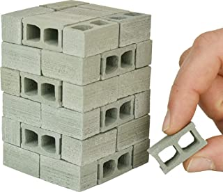 Acacia Grove Mini Cinder Blocks, 48 Pack, 1/12 Scale