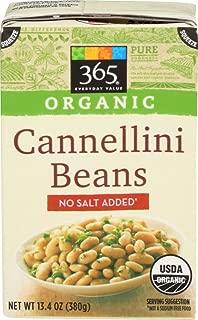 365 Everyday Value, Organic Cannellini Beans, No Salt Added, 13.4 oz
