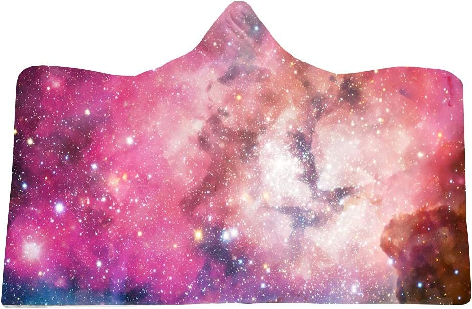 National uniform free shipping Brilliant Universe Starry Rapid rise Sky Hooded Soft Wearable Warm Blanket