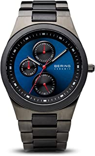 Time 32339-788 Mens Ceramic Collection Watch with Stainless Steel Band and Scratch Resistant Sapphire Crystal. Designed in Denmark.