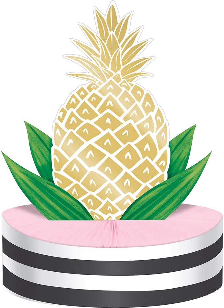 """Pack of 6 Tropical Pineapple Weekly update 13"""" Foil Centerpieces Popular brand Table"""