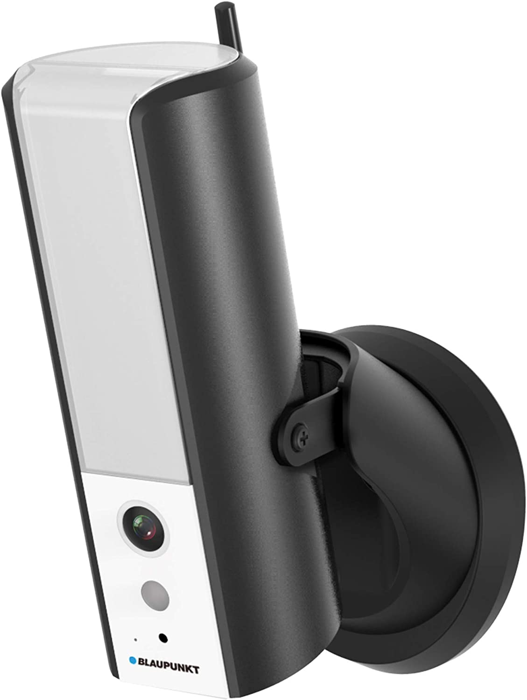 Blaupunkt Lampcam HOS-X20 con tarjeta MicroSD de 8 GB Full HD Videoüberwachung y dimmbare LED Außenleuchte con Bewegungssensor, escuchar y hablar via gratuita App, Push Mensajes, IP55 Schutzklasse