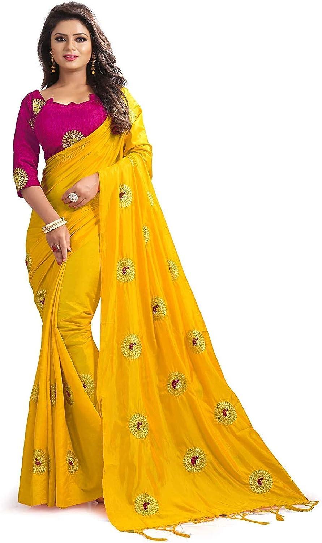 kfgroup Women's Many popular brands Paper Silk Embroidered Regular dealer Dress Saree Indian Ethnic