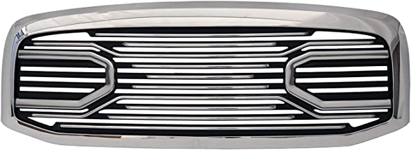 Paragon Front Grille for 2006-08 Dodge Ram 1500/2500/3500 - Chrome/Matte RAM Style Grill Grilles