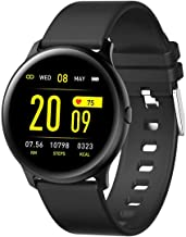 Kids Smart Watch, Pard Ultra Thin Big Screen Fitness Tracker, Heart Rate Blood Pressure Spo2 Monitor for Android iOS, Black