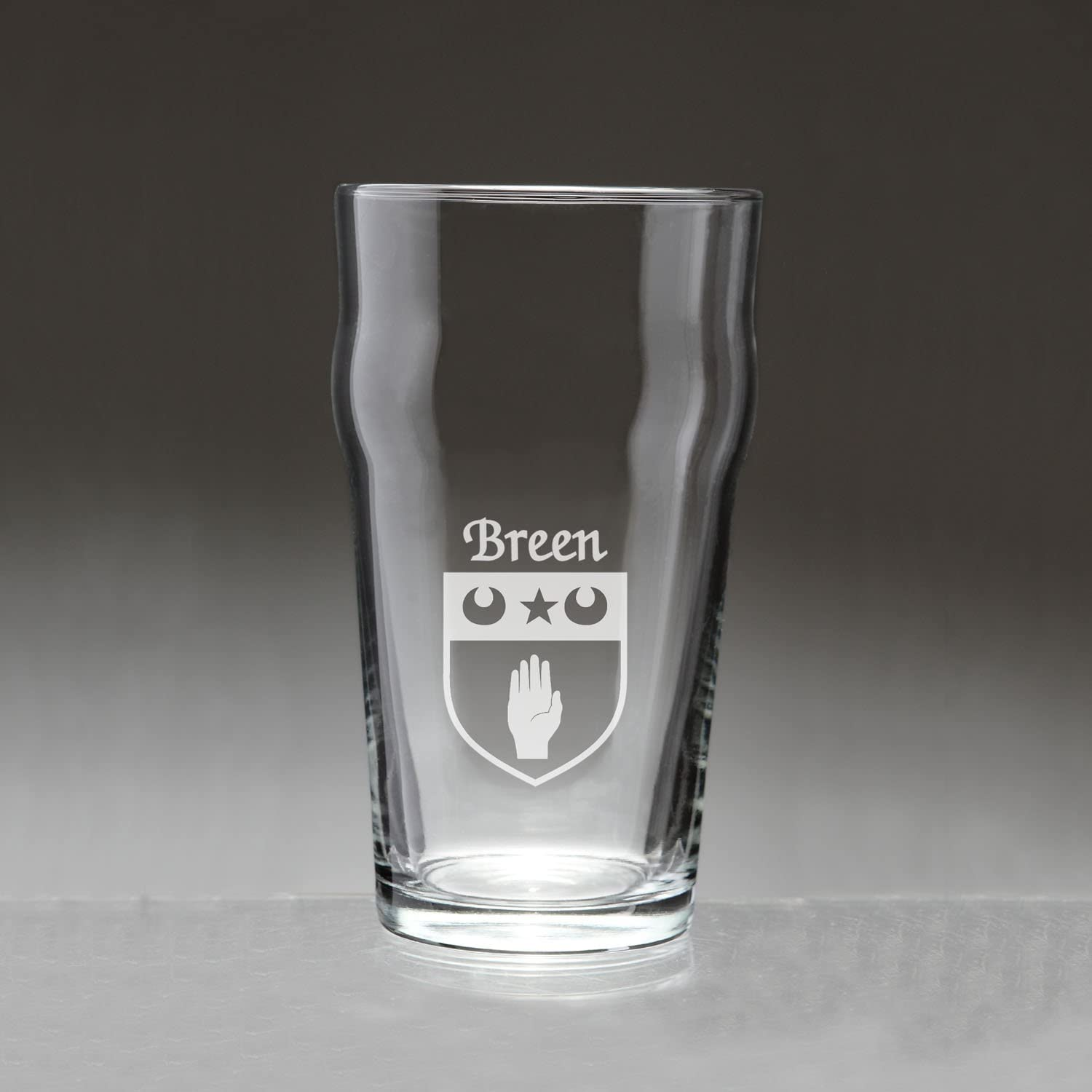 Breen Irish Coat of Arms Pub Sales of SALE items from new works 4 Set Sand Etched - Cheap mail order sales Glasses