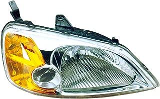 Headlight Replacement For Honda Civic Sedan Passenger Right Side Rh 2001 2002 2003 Headlamp Assembly