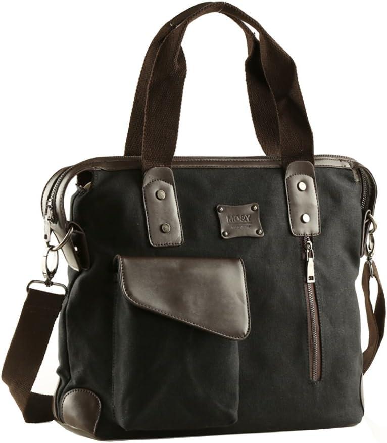 Hflove Men's Shoulder Bag Canvas Shoulder Bag Leisure Canvas Handbag Shoulder Briefcase Bag