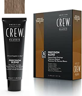 AMERICAN CREW Precision Blend Natural Gray Coverage 3x40ml 5-6 MEDIUM ASH by American Crew