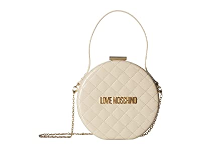 LOVE Moschino Circular Chain Purse (Avorio) Handbags