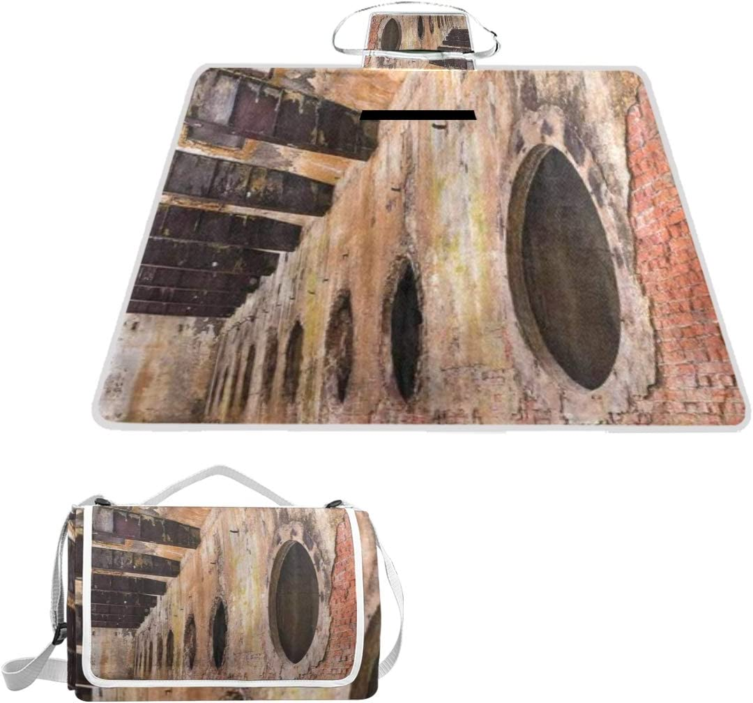 MATEKULI Outdoor Picnic Max 53% OFF Blanket Industrial Ruins To Old It is very popular Polluted