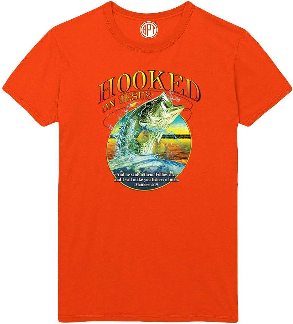 Hooked On Jesus Printed T-Shirt