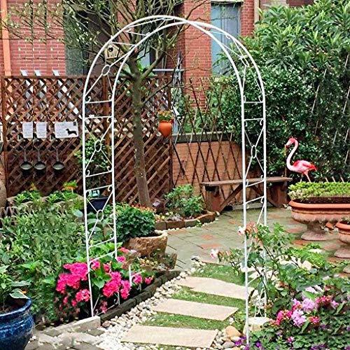 Arco Jardin, Pérgola de Hierro, Arco de Jardín al Aire Libre, Arcos de Rosas de Metal, 110cmx38cmx240cm, Cenador de Jardín para Plantas Trepadoras, Decoración de Bodas.
