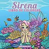 Sirena libro de colorear: Libro de colorear para niños de 4-8, 9-12 años (Cuadernos para colorear...