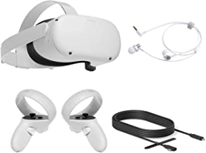 2020 Oculus Quest 2 All-In-One PC VR Headset 256GB férias família Bundle, Advanced Vitual Reality Gaming Headset, 10FT Myt...