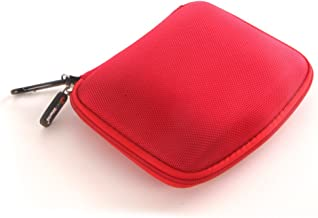JNTworld Red 6 Inch Nylon Hard Case Cover Pouch for Hard Drive Disk TomTom Start 62 ?0?0