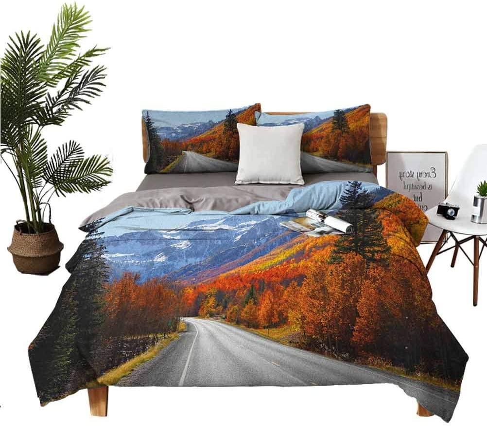 Fall 3-Piece Comforter Cover SEAL limited product Set outlet Countryside Through Highway The