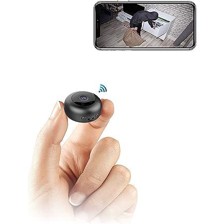 【2021年最新版】WIFI機能付き小型カメラ 隠しカメラ 録音録画 遠隔監視 動体検知 暗視機能 赤外線撮影 150°広角 1080P高画質 室内 屋外 USB充電 IOS/Android対応 日本語取扱説明書付