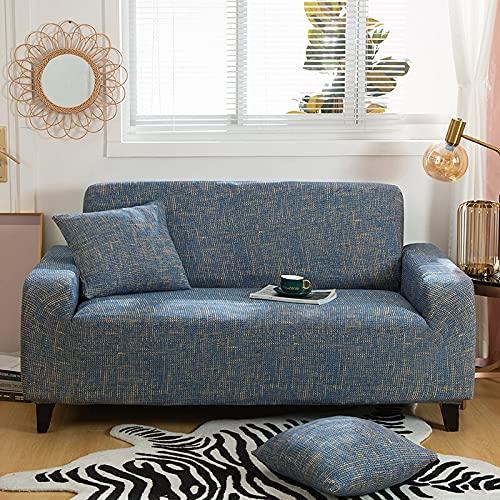 WXQY Patrón de triángulo Fundas elásticas elásticas Funda de sofá Antideslizante Funda de sofá para Mascotas Esquina en Forma de L Funda de sofá Antideslizante A10 4 plazas