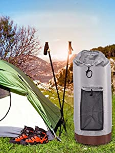 Mississ Laundry Bag  Portable Laundry Backpack with Shoulder Straps and Mesh Pocket for Travel Dormitory applied