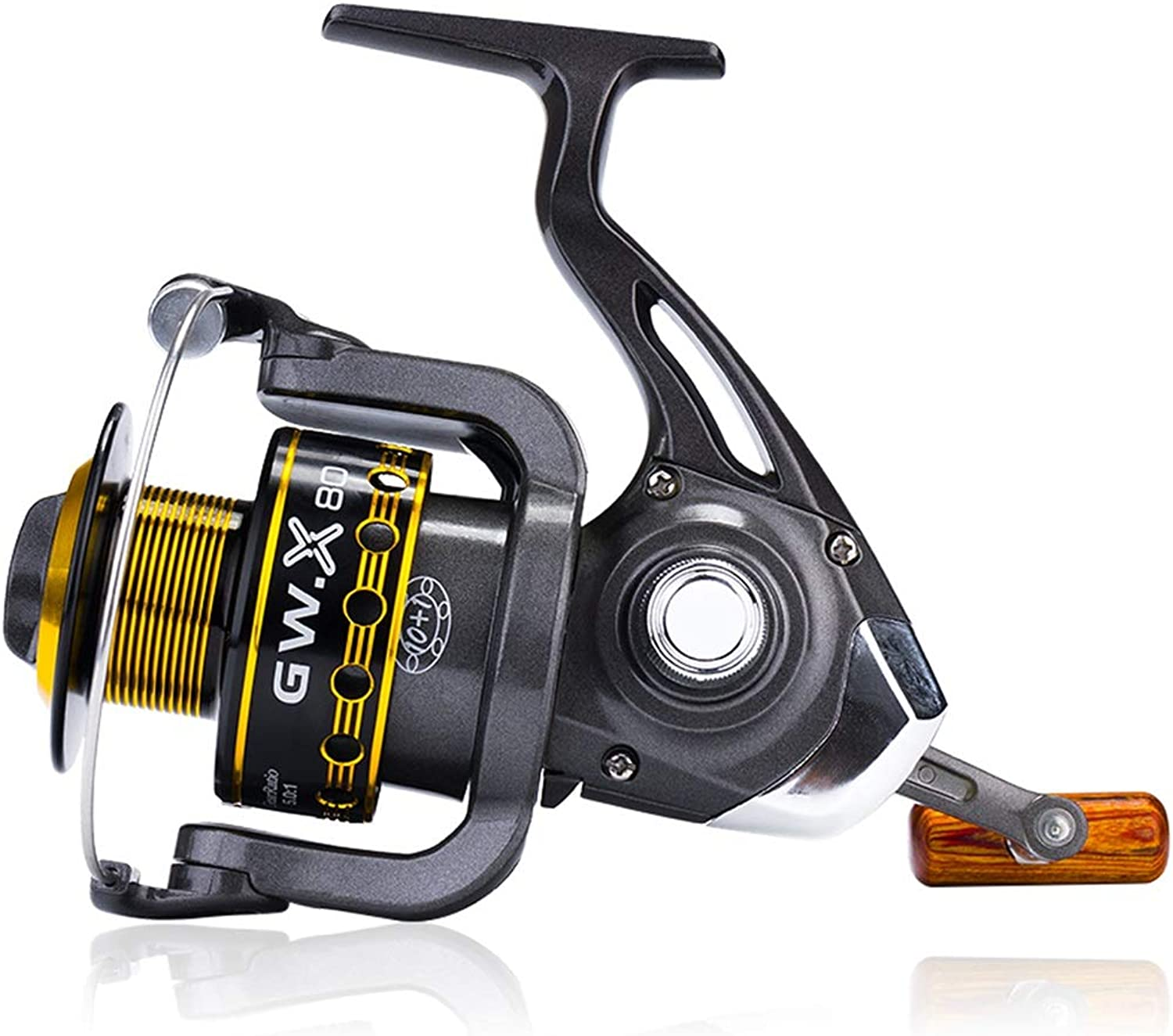 YRODYU Fishing Spinning Reel Front Drag Metal Lightweight Speed Quick Smooth for Fishing Carp Rock Lure Left and Right Hand Interchangeable