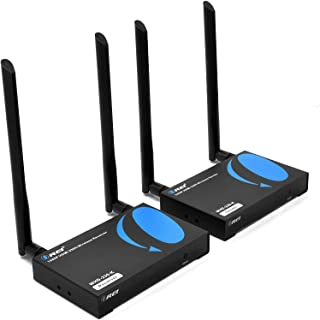 Wireless HDMI Transmitter & Receiver Extender by OREI - Upto 300 Feet - Long Range - Perfect for Streaming from Laptop, P...
