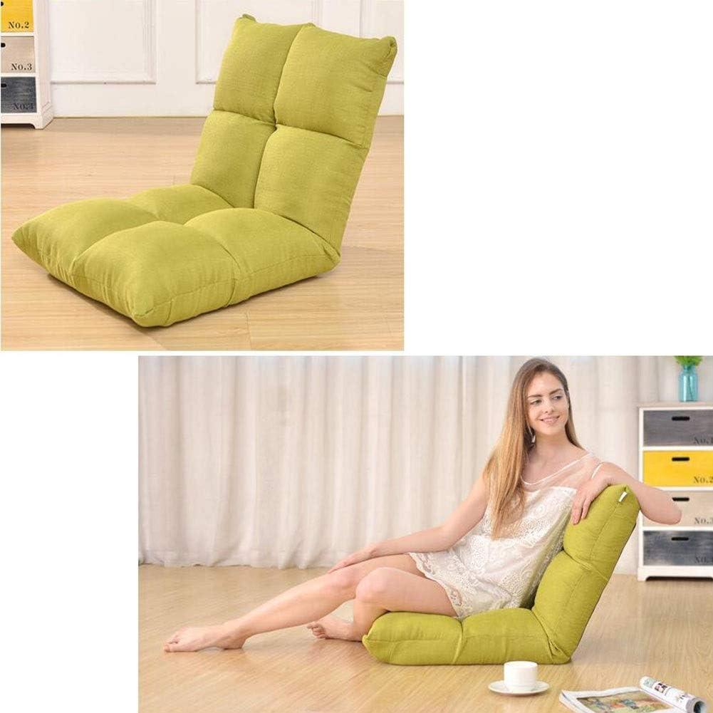 Dall Inclinable Pliant Salon Canapé Lit Réglable À 6 Positions Siège De Chaise Longue Support Arrière Chambre Balcon Salon (Color : Red) Green