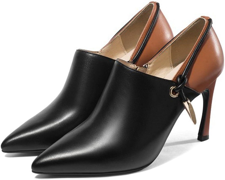 LOHU Damenschuhe Spitz High Heels Pumps Pumps Formale Business Casual Schuhe Mode Arbeit Karriere Frauen Stiefel Zipper High Heels Größe