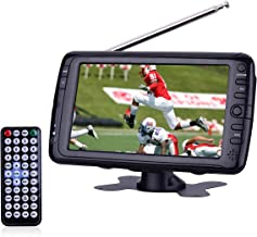 7 inch Portable LCD Digital ATSC TV/Monitor Handheld Televison with Built in Rechargeable Battery and Support USB/SD Reading (7 inch, Black)