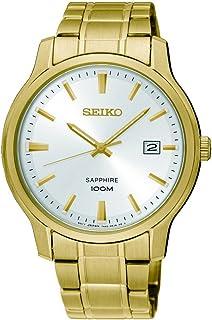 Seiko Men SGEH70P Year-Round Analog Quartz Gold Watch