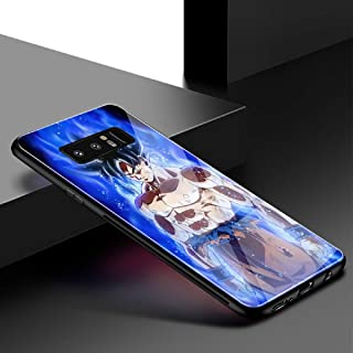 Dragon Ball Z Goku Ultra Instinct Hard Back Tempered Glass Case for Samsung Galaxy Note 8 9 S8 S9 Plus S10 Plus S10 Lite Luxury Eye-caching Back Cover (10, Galaxy S10 Plus)