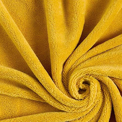 Rizo suave Bambú Uni – curry — Mercancia al metro a partir de 0,5m — para coser de Accesorios para el hogar, Ropa de dormir y Animal de tela