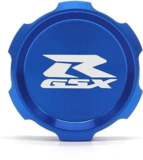 Blue Motorcycle Accessories CNC Rear Fluid Reservoir Cover Cap For SUZUKI GSXR 600 750 2011-2016