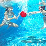 LONYKIBEE Pool Basketball Toys Novelty Inflatable Basketball Hoop Set Include Filled with Water Ball Underwater Passing, Diving, Swimming Summer Party Games Gift for Teens, Kids, Adults