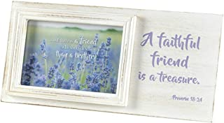 Faithful Friend is a Treasure 12 x 5.5 Dimensional Distressed Wooden Photo Frame