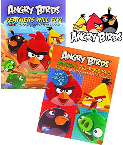 alta calidad y envío rápido Angry Angry Angry Birds Set of 2 Coloring and Activity Books  barato y de moda