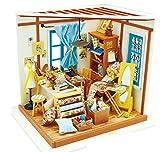 Rolife DIY Maison De Poupées avec Light Tailor Miniature Maison Modèle Jouets pour Filles-Meilleur Cadeau pour Adultes-Haut Mini Maison De Poupée Design pour Enfants 14 Ans et Plus(Lisa's Tailor)